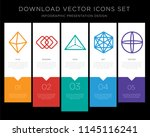 5 vector icons such as... | Shutterstock .eps vector #1145116241