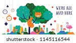 alice in wonderland banner ... | Shutterstock .eps vector #1145116544