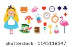 alice in wonderland banner ... | Shutterstock .eps vector #1145116547