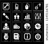 set of 16 icons such as on...