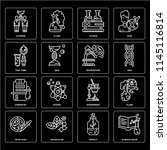 set of 16 icons such as science ... | Shutterstock .eps vector #1145116814