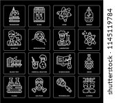 set of 16 icons such as cloning ... | Shutterstock .eps vector #1145119784