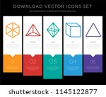 5 vector icons such as cube ... | Shutterstock .eps vector #1145122877