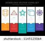 5 vector icons such as cylinder ... | Shutterstock .eps vector #1145125064