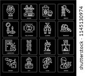set of 16 icons such as woman ... | Shutterstock .eps vector #1145130974