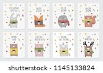 vector collection of postcards... | Shutterstock .eps vector #1145133824