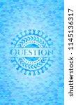 question light blue mosaic... | Shutterstock .eps vector #1145136317