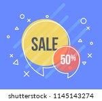 set of flat speech bubble... | Shutterstock .eps vector #1145143274