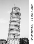 leaning tower of pisa o... | Shutterstock . vector #1145146004