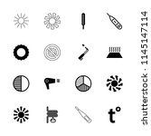 heat icon. collection of 16...   Shutterstock .eps vector #1145147114