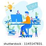 professional engineer... | Shutterstock .eps vector #1145147831