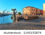 puerto de la cruz  tenerife... | Shutterstock . vector #1145152874