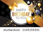 happy birthday  celebration ... | Shutterstock .eps vector #1145155331