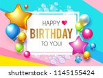 happy birthday  celebration ... | Shutterstock .eps vector #1145155424