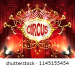 vector background with circus... | Shutterstock .eps vector #1145155454