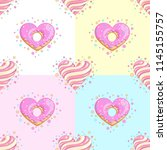 sweet hearts seamless pattern.... | Shutterstock .eps vector #1145155757