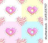 sweet hearts seamless pattern.... | Shutterstock .eps vector #1145155757