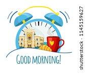 good morning tv show logo.... | Shutterstock .eps vector #1145159627