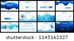 business presentation templates.... | Shutterstock .eps vector #1145162327