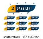 memphis style number of days... | Shutterstock .eps vector #1145168954