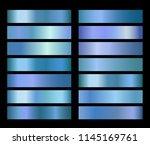 blue gold vector foil texture... | Shutterstock .eps vector #1145169761