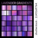 vector lavender gradients set... | Shutterstock .eps vector #1145169764