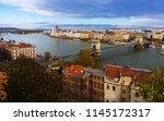historical center of budapest... | Shutterstock . vector #1145172317