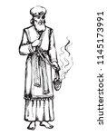moses torah historic divine... | Shutterstock .eps vector #1145173991