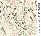 seamless pattern with  field... | Shutterstock . vector #1145174504