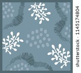 scarf pattern with leaf and... | Shutterstock .eps vector #1145174804