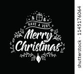 merry christmas. typography.... | Shutterstock .eps vector #1145176064