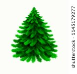 christmas tree isolated on... | Shutterstock . vector #1145179277