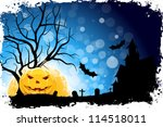grungy halloween background... | Shutterstock .eps vector #114518011