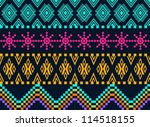 beautiful background   knitted... | Shutterstock .eps vector #114518155