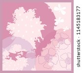 pink floral scarf pattern | Shutterstock .eps vector #1145183177