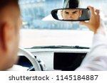 professional driving. confident ...   Shutterstock . vector #1145184887