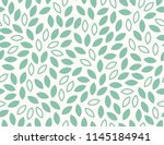 leaves pattern. endless... | Shutterstock .eps vector #1145184941