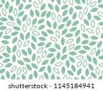 leaves pattern. endless... | Shutterstock .eps vector #1145184941