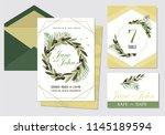 wedding invite  invitation menu ... | Shutterstock .eps vector #1145189594