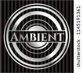 ambient silver badge or emblem | Shutterstock .eps vector #1145191361