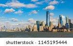 panorama of lower manhattan new ...   Shutterstock . vector #1145195444