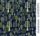 seamless vector pattern with... | Shutterstock .eps vector #1145203991