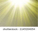 sun ray light on top isolated... | Shutterstock .eps vector #1145204054
