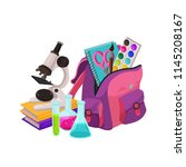 back to school. collection of... | Shutterstock .eps vector #1145208167