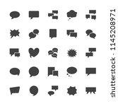 speech bubble speech flat glyph ... | Shutterstock .eps vector #1145208971