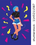 vector poster carefree youth.... | Shutterstock .eps vector #1145211587