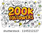 200000 followers illustration... | Shutterstock .eps vector #1145212127