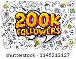 200000 followers illustration... | Shutterstock .eps vector #1145212127