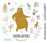 season greetings  vector... | Shutterstock .eps vector #1145216807
