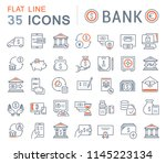 set of vector line icons of... | Shutterstock .eps vector #1145223134